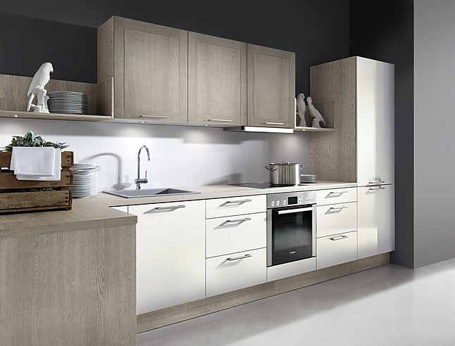 Moderne L Keuken : Overige showroomkeuken moderne l vorm keuken van kasmihr kleurig