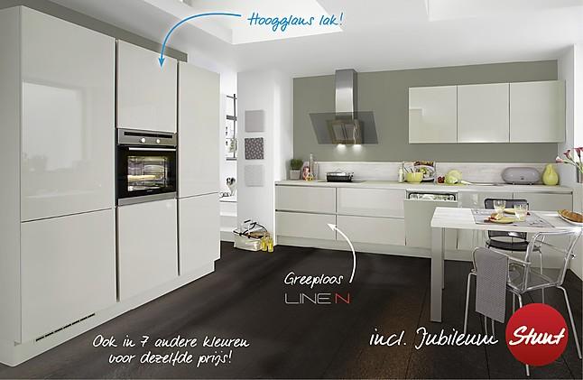 Greeploze Keukens Aanbieding : Nobilia Showroomkeuken Moderne greeploze hoogglans keuken