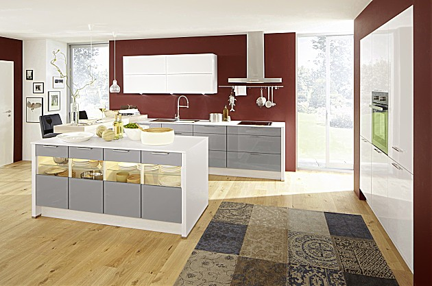 Witte Keukens Met Grijs Werkblad : Inspiratie: keukenfotos in de ...