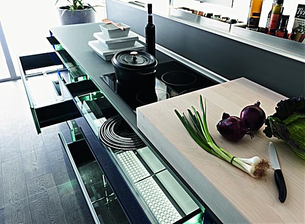 Keuken Licht Blauw : Blauw Keuken : keukenlades met blauw glazen bodem zuordnung stil luxe