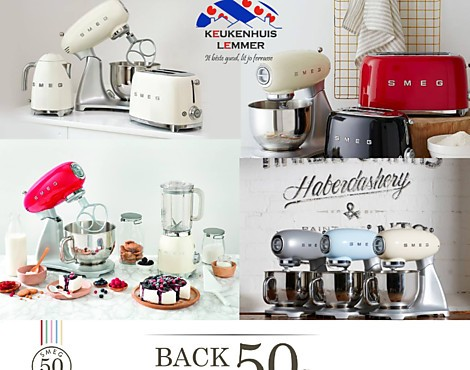 Back to the 50 apparatuur van Smeg - Retro Smeg