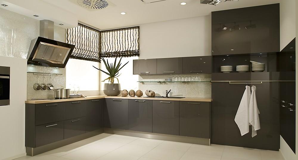 Keuken Van Antraciet : L vormige keuken antraciet hoogglans lak