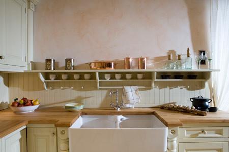 Landelijke keuken engels in cottage stijl - Oude stijl keuken wastafel ...