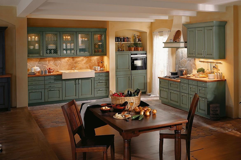 Houten keuken in l vorm