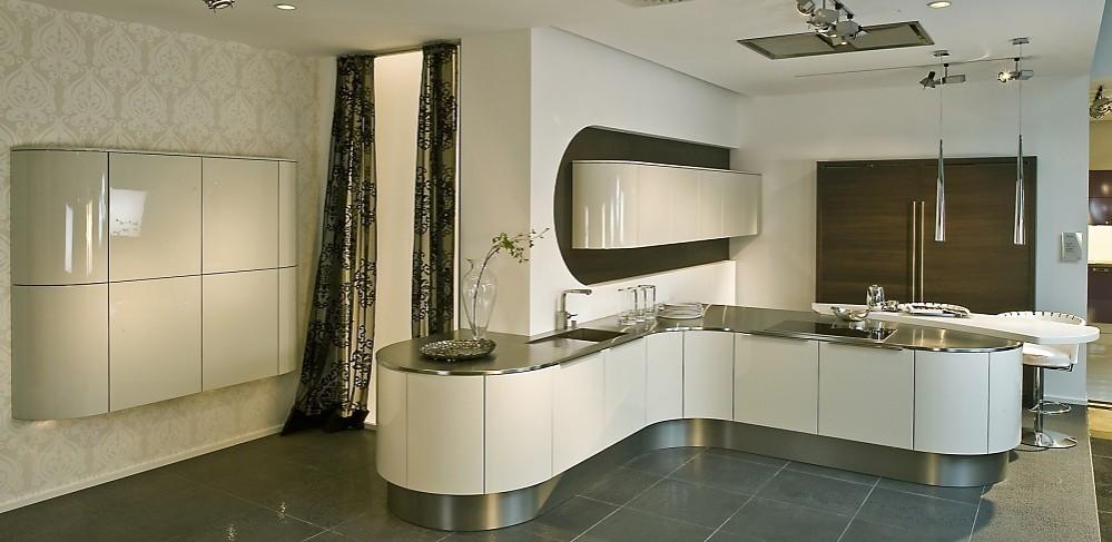 Open keuken met modern design wit - Open keuken op verblijf ...