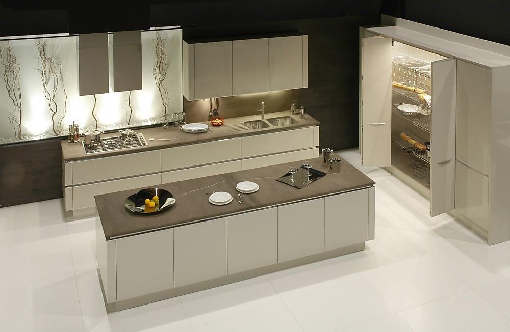 Moderne Keuken Grijs : Idea pininfarina design grijs glanzende lak