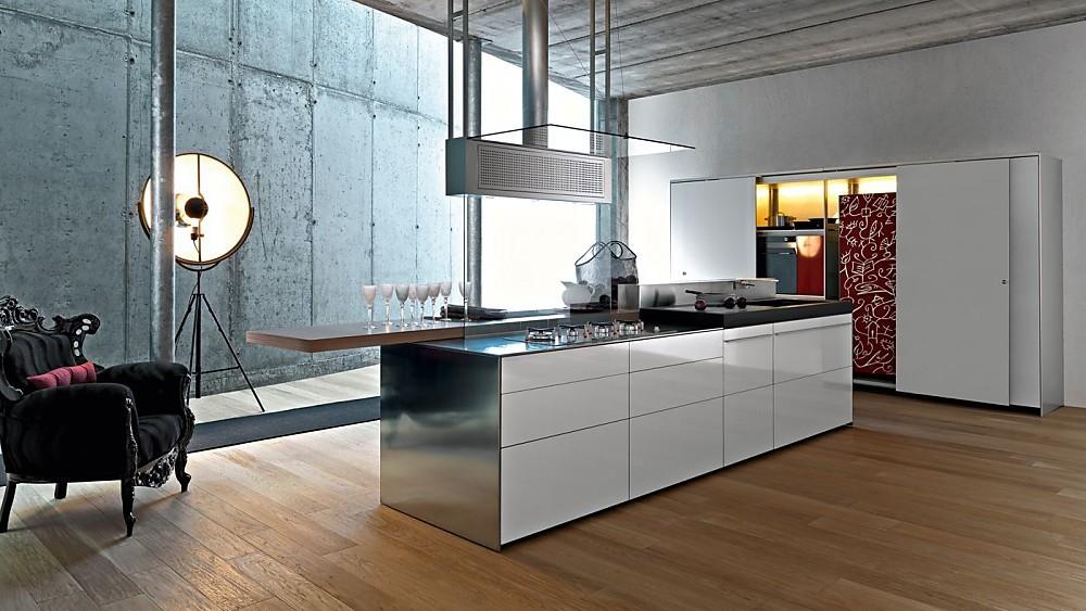 Einde Witte Keuken : Greeploze design keuken b1 met eiland in het wit