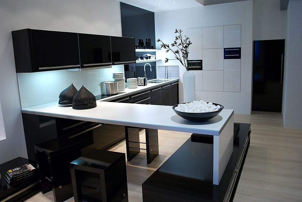 Keukenwand met bar for Kleine amerikaanse keuken met bar