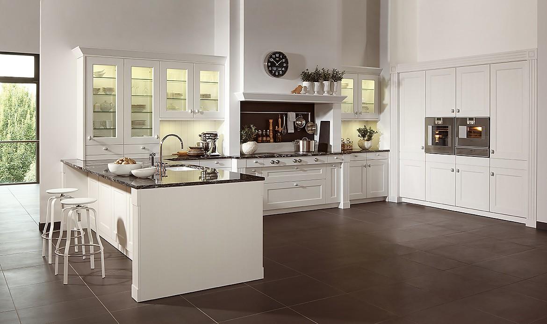 U vormige keuken wit