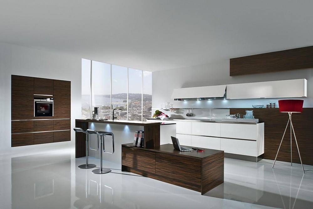 greeploze design keuken b met kookeiland wit en staal, Meubels Ideeën