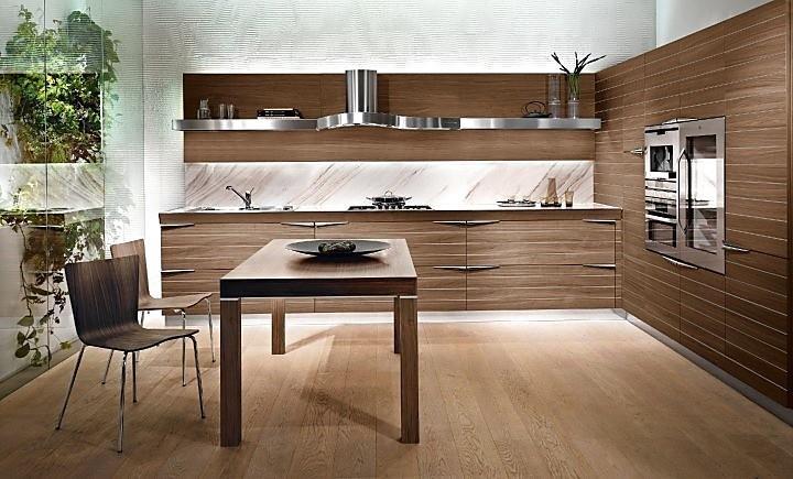Keuken Walnoot : Stil Moderne keukens, Planungsart L-vormige keuken