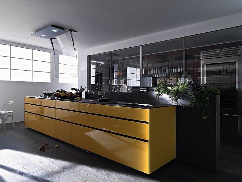 Geel De Keuken : Artematica vitrum geel oranje glanzend