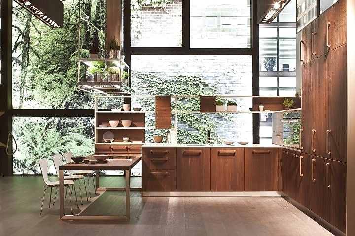 Keuken Licht Of Donker : houten keuken in u vorm met zithoek kalme houten keuken met licht en