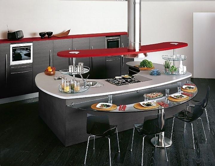 Keuken Met Zithoek : Afgeronde keuken met zithoek en mix van materialen