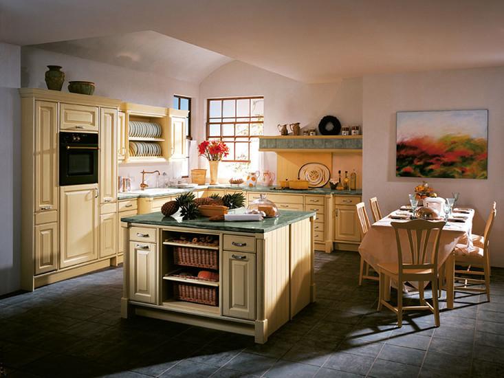 Landelijke keuken frans mediterraan zonnig modern - Keuken uitgerust m ...