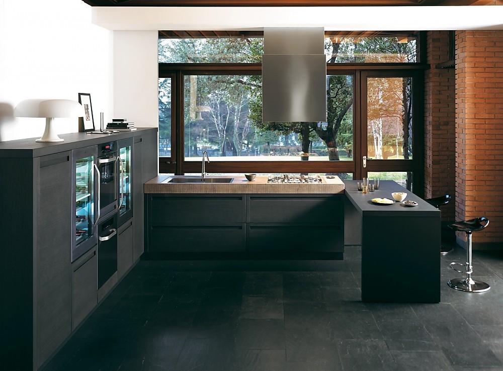 Houten keuken met eikenhout