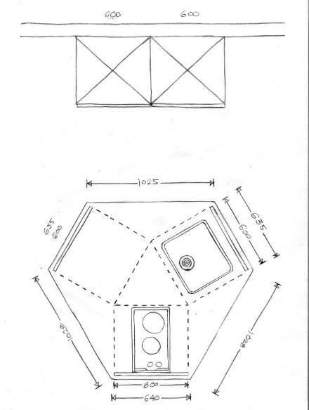 Plattegrond Keuken Ontwerpen : Kleine keuken: over het thema keuken ontwerpen