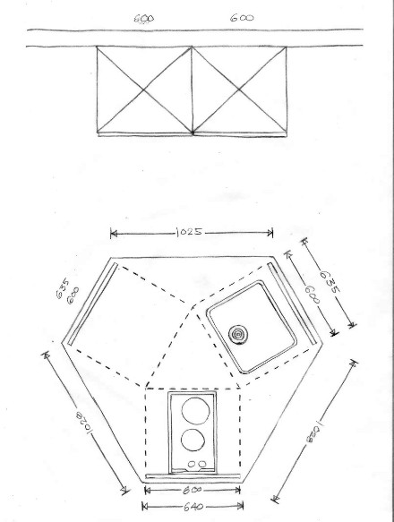 Plattegrond Kleine Keuken : Plattegrond kleine keuken