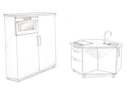 Doublo home design idee n en meubilair inspiraties - Kleine keukenmeubilair ...